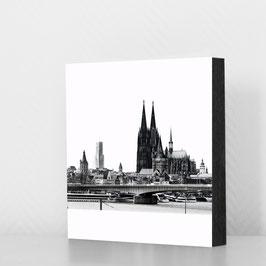 Dom und Rhein sw - reduziert (18x18cm)