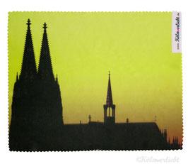 Reinigungstuch Kölner Dom gelb