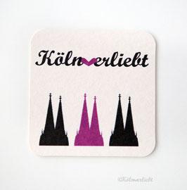 Bierdeckel Kölnverliebt - 10 Stück