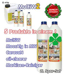 MultiW = MultiW2   -  2L - Spar-Set - Premium - Reiniger für das 21. Jahrhundert !
