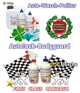 Autolack-Bodyguard - Waschpolitur - wasserlose Autowäsche