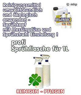 Sprühflasche - mit professionellen Sprühkopf nach Bedarf einstellbar !