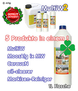 MultiW2 - Turbo-Konzentrat -  1L Flasche - spezial-Reiniger - made in Germany !