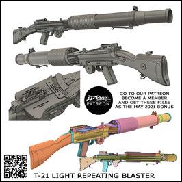 T-21 LIGHT REPEATING BLASTER - 3D FILES