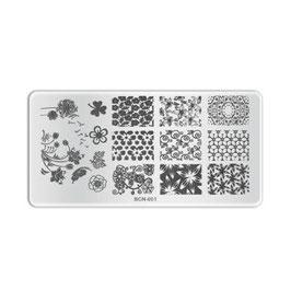 Stamping plate B001