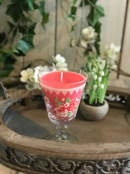 Kerze im Weinglas