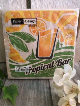 """Cocktailserviette """"Tropical-Bar"""""""