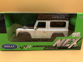 LAND ROVER DEFENDER EXPEDITION - BIANCO - WELLY 1/24