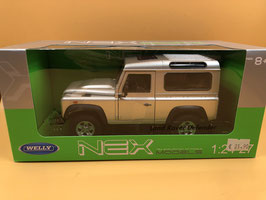 LAND ROVER DEFENDER - ARGENTO - WELLY 1/24
