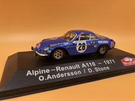 Alpine Renault A110 - O.Andersson - Montecarlo Rally (1971)