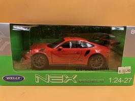 PORSCHE 911 (991) GT3 RS - ARANCIO - WELLY 1/24