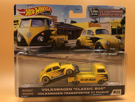 #22 VOLKSWAGEN CLASSIC BUG & VW TRANSPORTER T1 PICK UP