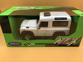 LAND ROVER DEFENDER - BIANCO - WELLY 1/24