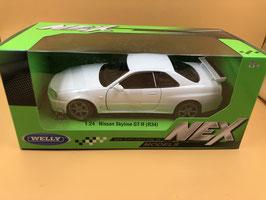 NISSAN SKYLINE GT R (R34) - BIANCO - WELLY 1/24