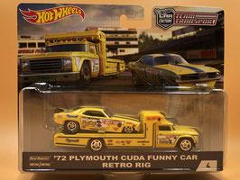 #4 '72 PLYMOUTH CUDA FUNNY CAR & RETRO RIG & RETRO RIG