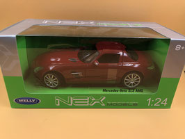 MERCEDES SLS - ROSSO - WELLY 1/24