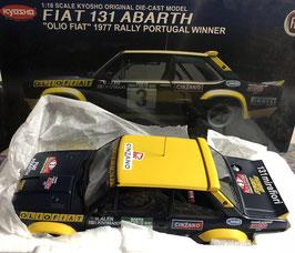 """FIAT 131 ABARTH GR.4 - """"PORTUGAL RALLY 1977 - OLIO FIAT - M.Alen""""  -- KYOSHO cod. 08372B"""