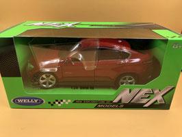 BMW X6 - BORDEAUX - WELLY 1/24