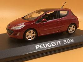 PEUGEOT 308 (2007) - ROSSO - NOREV 1/43