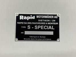 Typenschild Rapid S - Spezial