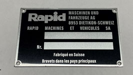 Typenschild Rapid 2