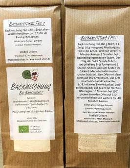 Bio Backmischung Bauernbrot - Wie vom Bäcker!