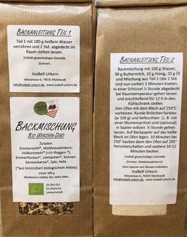 Backmischung Bio Urkorn Duo Brötchen