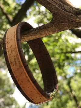 Bracelet Liège large plat et deux couleurs - HOMME