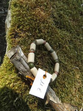Bracelet Homme et Femme Unakite et bois de hêtre