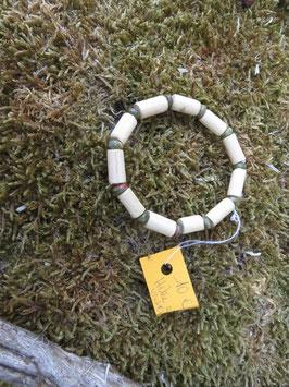 Bracelet Homme et Femme rondelles d'Unakite et bois de hêtre
