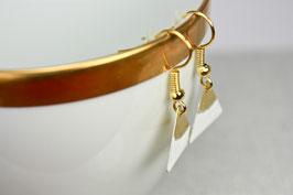 Dreieck gold-weiß Mini