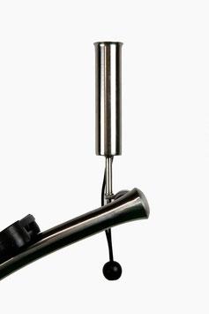 Yorrx® Golf Edelstahl Regenschirmhalter für bis zu 38mm Griffdurchmesser (Schraubfixierung M8 Gewinde)