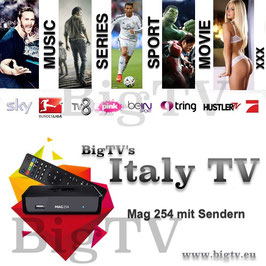 Italy TV + Mag 254 oder Mag 256