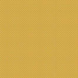 017 Baumwolstoff kleine Punkte senfgelb