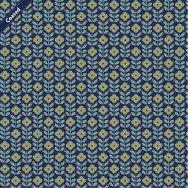 007 Beschichtete Baumwolle GRAPHIC-FLOWER-NAVY