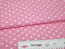 016 Baumwollstoff rosa Punkte