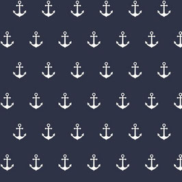 010 Baumwollstoff Anker navy