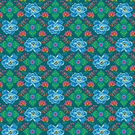 020 Baumwollstoff Phae BLUE