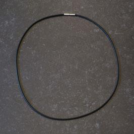 Silikoncollier, schwarz, Bajonett Verschluss