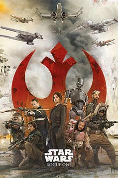 Set de 5 Pósteres de Rebeldes de Star Wars Rogue One (61x91cm)