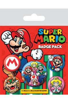 Super Mario Pack de 5 chapas