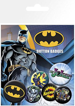 Pack de 6 Chapas Batman & Joker