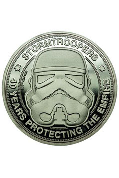 Moneda Stormtrooper original 40 Años protegiendo el Imperio