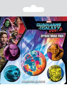 Pack de 5 Chapas Guardianes de la Galaxia Cosmic