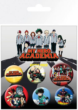 Pack de 6 Chapas My Hero Academy