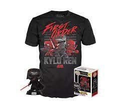 Pack Funko y Camiseta Kylo Ren Talla XL