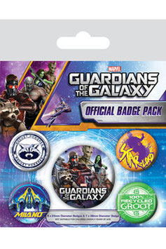 Guardianes de la Galaxia  pack de 5 chapas