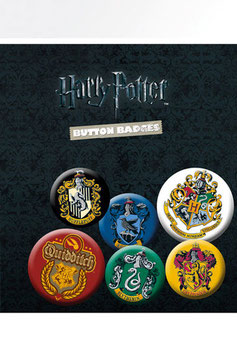 Harry Potter Pack 6 Chapas Blasones