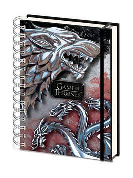 Libreta Juego de Tronos A5 Stark y Targaryen