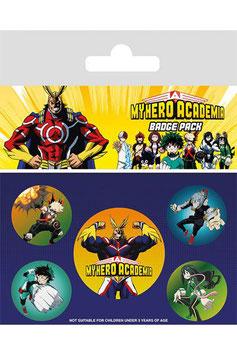 Pack 5 Chapas My Hero Academy Personajes